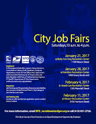 recreation community service news san francisco recreation and rpd city job fairs 2017