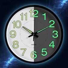 1pc <b>12 Inch Luminous</b> Clocks Glow In The Dark Quartz Watch For ...
