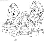 Рисунок раскраска на день рождения