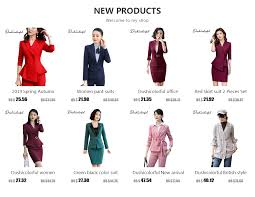 <b>Dushicolorful office</b> clothes 2019 <b>Spring</b> summer women skirt suits ...