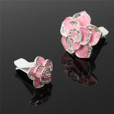 2 pcs camellia flower <b>styling car</b> perfume <b>air</b> freshener clip <b>air</b> ...
