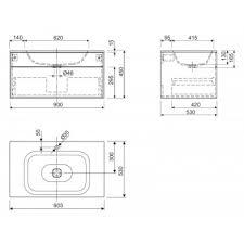 Мебель для ванной, <b>Cezares Titan</b> I 90 | Купить в интернет ...