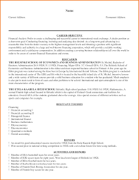 financial analyst resume example financial statement form sample resume financial analyst pdf pictures