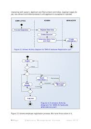 employee management system uml diagrams use case diagram  activity di        interacting