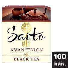 <b>SAITO чай черный</b> в сашетах <b>Asian</b> Ceylon (100шт) | Unilever ...