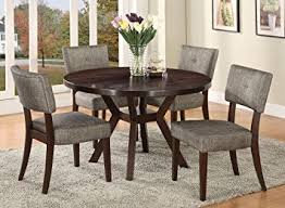 4 chair kitchen table: acme furniture top dining table set espresso finish drake collection  chairs