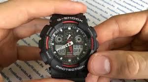 Как настроить часы Casio G-SHOCK GA-100-1A4ER - инструкция ...