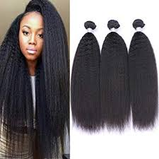 IMAYLI 8A Brazilian Kinky Straight Virgin Hair 3 ... - Amazon.com
