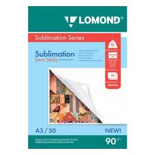 <b>Сублимационная бумага Lomond</b> липкая 90/А3/50л — купить в ...