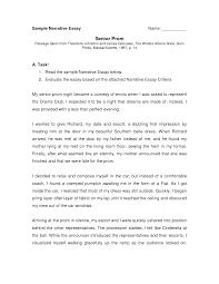 grade 12 narrative essay examples essay narrative