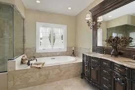 deluxe master bathroom design with bathtubs wooden vanity bathroomglamorous glass door design ideas photo gallery