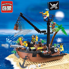 <b>178Pcs Pirates of</b> the Caribbean Scrap Dock Ship Boat Building ...