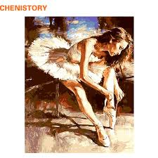 CHENISTORY <b>Frameless Ballet Dancer</b> Diy Painting By Numbers ...