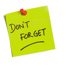 Image result for don't forget post it note