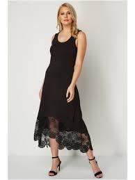 Roman Originals <b>Crochet</b> Hem Midi Dress | <b>Women's</b> Roman Dress ...