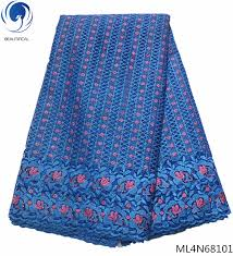 <b>Beautifical french</b> lace fabrics high quality blue <b>tulle</b> lace with beads ...