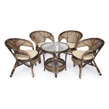 <b>Комплект</b> плетеной <b>мебели</b> PELANGI 02/15 (стол со стеклом + <b>4</b> ...