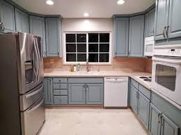 high kitchen updates he used gf persian blue milk paint and satin high performance topcoat