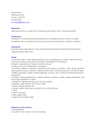 apartment maintenance resume sample job and resume template apartment maintenance resume examples