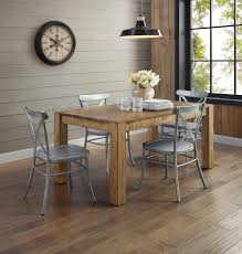 real rustic kitchen table long: better homes and gardens bryant dining table rustic brown walmartcom