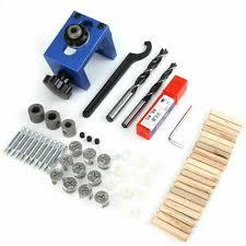 <b>Wood Dowel Hole Drilling</b> Guide Jig Drill Bit Woodworking ...