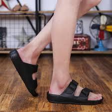 BGZ Ultra Light Double <b>Buckle Sandals Men's</b> Fashion Wear Flat ...