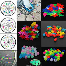 26/36X Kids Child <b>Bike Bicycle Wheel</b> Plastic <b>Spoke</b> Bead Clip ...