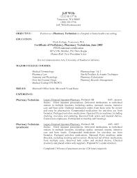 pharmacy technician resume cover letter cipanewsletter it service technician cover letter