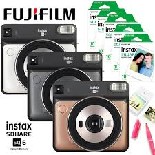 3 Colors <b>Fujifilm</b> Instax <b>SQUARE</b> SQ6 Instant <b>Film</b> Photo Camera + ...