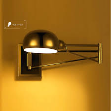 2017 bedroom silver foldable vintage wall lights bathroom swing arm wall sconce bedside wall lighting reading lights wall mounted led mirror lamp from bedside sconce lighting