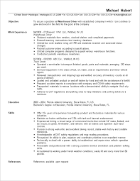 resume template  resume objectives for warehouse workers warehouse        resume template  resume objectives for warehouse workers with work experience as warehouse driver  resume