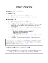 paraeducator job resume cipanewsletter paraeducator resume sample solaris administration sample resume