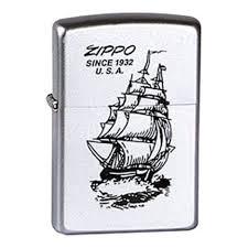 <b>Зажигалка ZIPPO Boat-Zippo</b>, с покрытием Satin Chrome ...