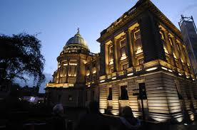 building on pinterest building facade lighting