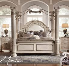 shore canopy bedroom set photo mandalay cmek brown cherry eastern king finish canopy bedroom set