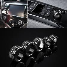 5 Black <b>Air Conditioning</b>+<b>Audio</b>+<b>Function Button Circle</b> Trim For ...