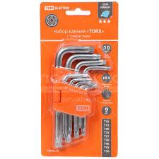 Набор <b>ключей</b> TDM Electric Torx SQ1021-0102 9 шт, Т10-Т50 в ...