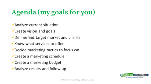 create focus and simplify your marketing efforts a marketing 5 agenda my goals