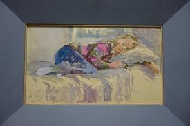 "Emmalisa Senin - ""<b>Sleeping girl</b>"" Oil 1988 <b>cm</b>. 48 x <b>28</b> For Sale at ..."