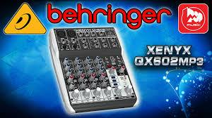 <b>BEHRINGER QX602MP3</b> - новый компактный микшер с МП3 ...