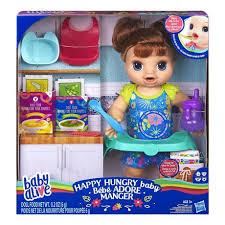 <b>Baby</b> Alive <b>Happy</b> Hungry <b>Baby</b> Brown Straight Hair Doll, Makes 50+ ...