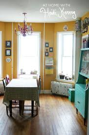 fabric curtain features living room yellow paint love it and its almost the same shade of paint thats on our walls midd