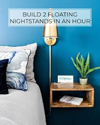 Build <b>2</b> DIY <b>Floating Nightstands</b> in Less Than an Hour