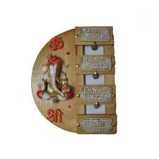 Paint Coated Shree Ganesh <b>Creative Wooden Wall Hanging</b> ...