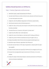 syllabus based questions on n pharma