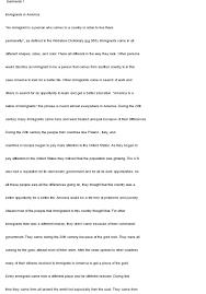 essay immigrant essay