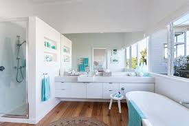 coastal bathroom designs: architecture coastal bathroom decor ideas white beadboard floor there somany things to love about it i don  t know where to start