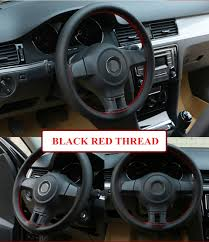 38cm Steering Wheel Covers soft Genuin Leather <b>braid on the</b> ...