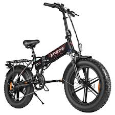 <b>ENGWE EP</b>-<b>2</b> Folding Fat Tire Electric Moped Bicycle Black