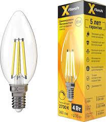 <b>Лампа светодиодная</b> диммируемая X-Flash XF-E14-FLD-C35-4W ...